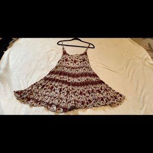 Brandy rose patterned flowy dress